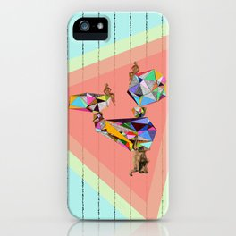 Behind every great man there are women to keep him balanced iPhone Case