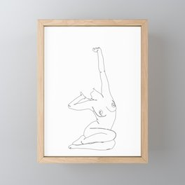 Life drawing illustration - Louie Framed Mini Art Print