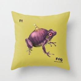 Ff - Frig // Half Frog, Half Fig Throw Pillow