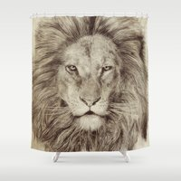 leo Shower Curtains featuring Leo by Eric Fan