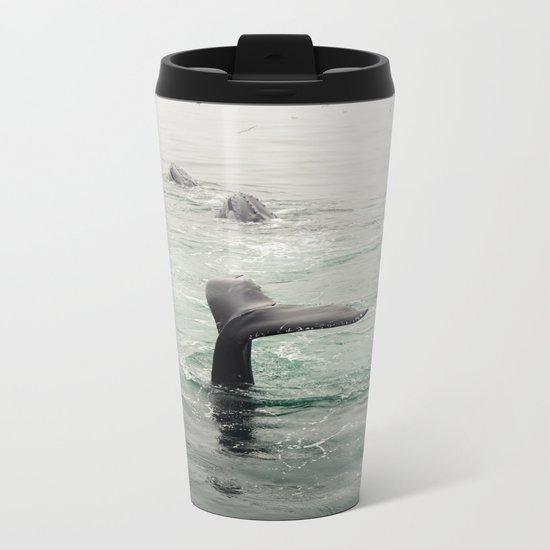 Whale Tail Metal Travel Mug