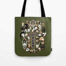 Helmets of fandom - respect the head! Tote Bag