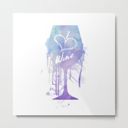 I Heart Wine Metal Print