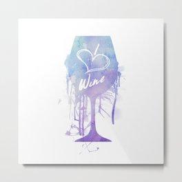 I Heart Wine Metal Print