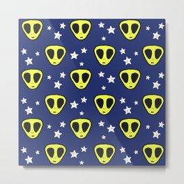 alien pattern Metal Print