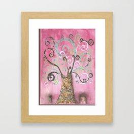 Pink tree of life Framed Art Print