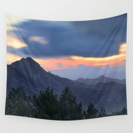 Dream sunset. At the mountains... Wall Tapestry