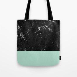 Pastel Mint Meets Black Marble #1 #decor #art #society6 Tote Bag