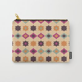 Seamless retro pattern geometrical vector texture background Carry-All Pouch