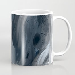 Blue Gray Swirl - abstract painting Coffee Mug