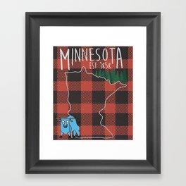 Minnesota Lumberjack Framed Art Print