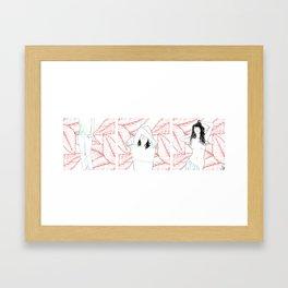 RED STRIP (combine series) Framed Art Print