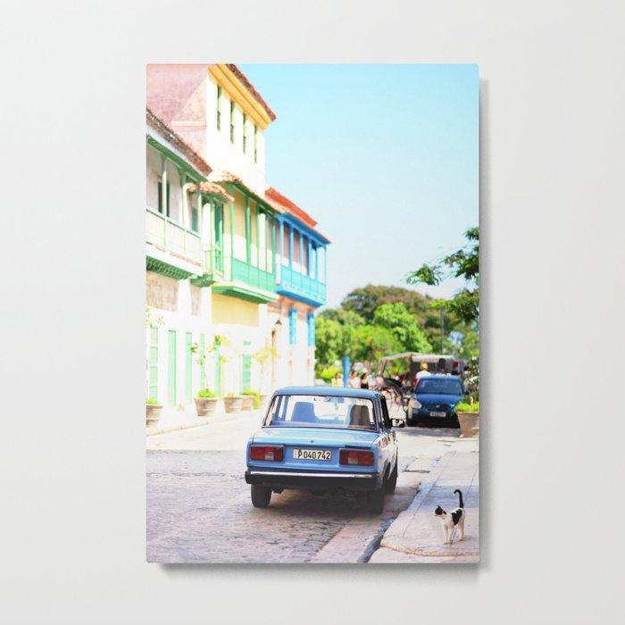 136. The lonely cat, Cuba Metal Print