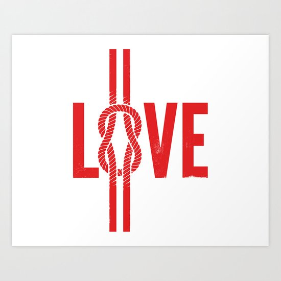 Love Knot (Red) Art Print