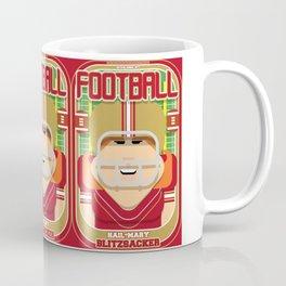 American Football Red and Gold - Hail-Mary Blitzsacker - Jacqui version Coffee Mug