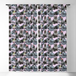 Freddy- Cat pattern in soft Pink Blackout Curtain