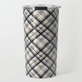 Squares and rectangles under the slope, checkered pattern. Travel Mug
