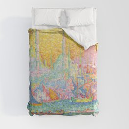 "Paul Signac ""La Corne d'Or - Constantinople"" Comforters"