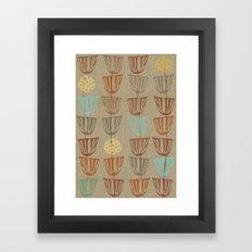 Pods and Seeds 2 on Linen Revised Framed Art Print