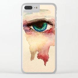 Eye in watercolor Clear iPhone Case