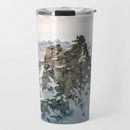 Mountain Winter Panorama Travel Mug