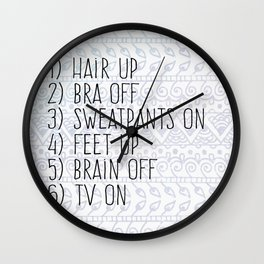 College Things Wall Clock