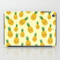 pineapples iPad Cases featuring Pineapples by Sara Showalter