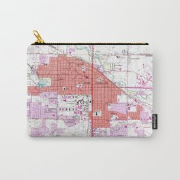 Vintage Map of Fort Collins Colorado (1960) Carry-All Pouch