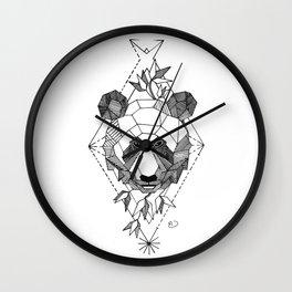 Geometrical Panda with Morse Code Wall Clock