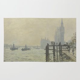 Claude Monet - The Thames Below Westminster Rug