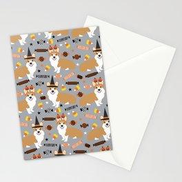 Corgi Dog Costume Halloween cute dog halloween candy dog pattern Stationery Cards