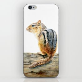 Little Chip - a painting of a Chipmunk by Teresa Thompson iPhone Skin