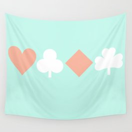 Turquoise & Coral (6) Wall Tapestry