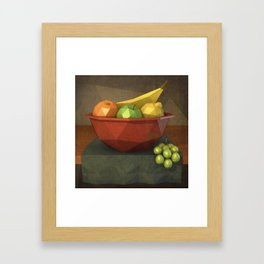 Low-polygon style still life painting Framed Art Print
