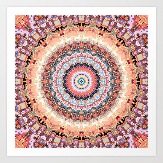 Textured Circles Abstract Art Print