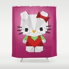 Catgami Shower Curtain