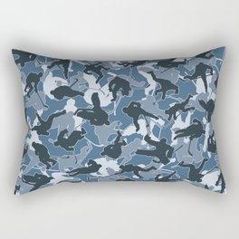 Ice Hockey Player Camo URBAN BLUE Rectangular Pillow
