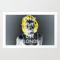 blondie Art Prints featuring Blondie by J_Cat