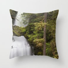 Curly Falls, Washington Throw Pillow