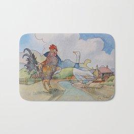 Cock and Goose Bath Mat