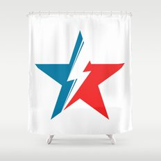 Bowie Star white Shower Curtain
