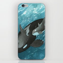 Mother & Baby Orca iPhone Skin