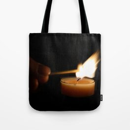 A candlelight dinner Tote Bag