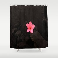 rebel Shower Curtains featuring Rebel by Out of Line