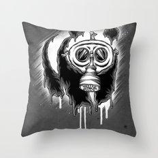 Choked Panda Throw Pillow