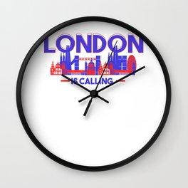 London Is Calling Skyline UK Vacation Wall Clock