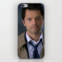 castiel iPhone & iPod Skins featuring Castiel by Rousetta