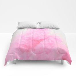 Pink Neon Smoke Clouds Comforters