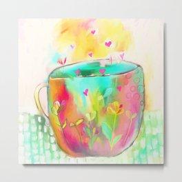 Cup of Love Metal Print