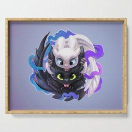 Dragon Black White Serving Tray